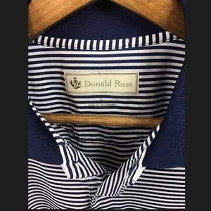 Donald Ross Shirts - 🎃Donald Ross Mens Striped Golf Polo Ryder Cup